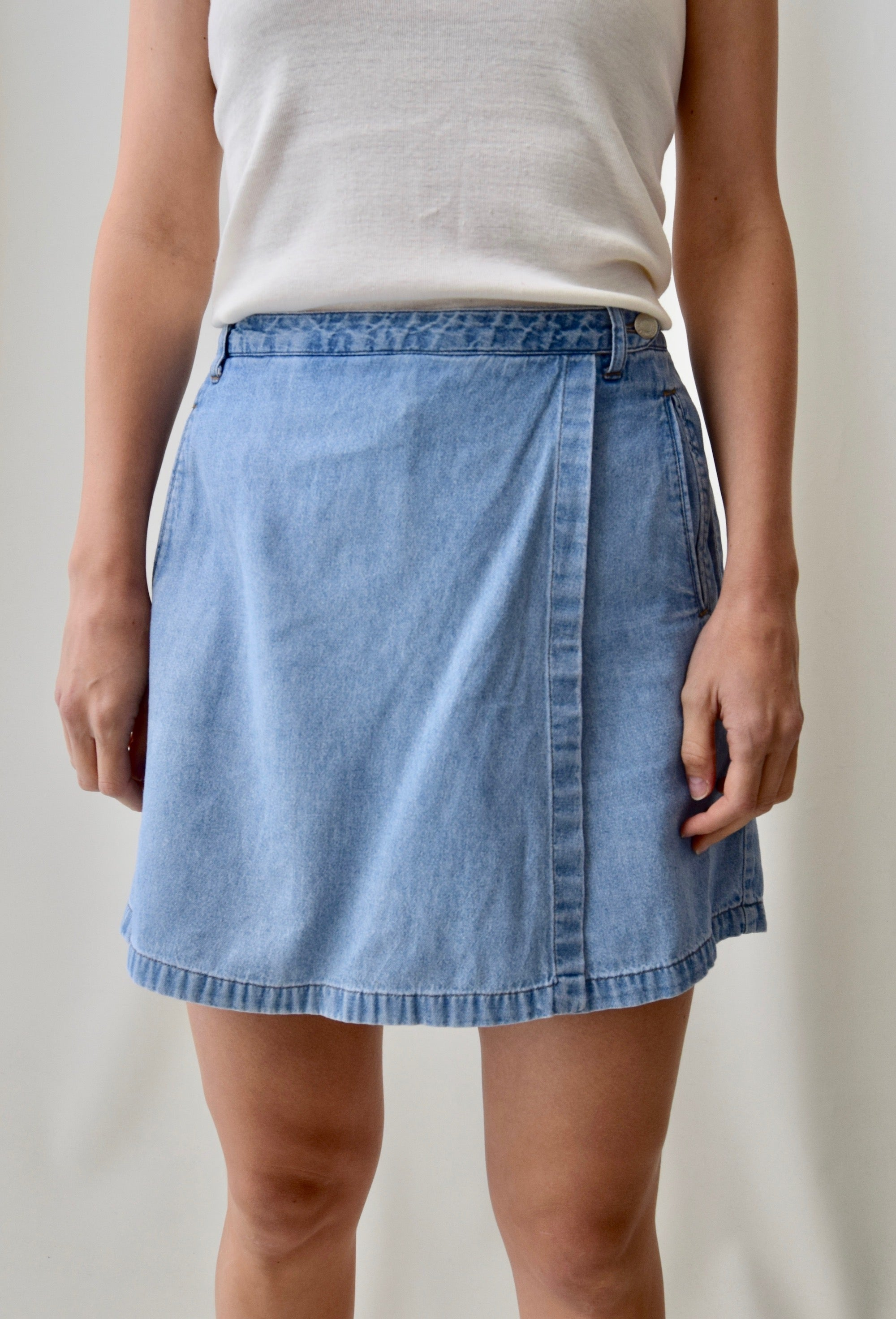 Light Wash Denim Skort