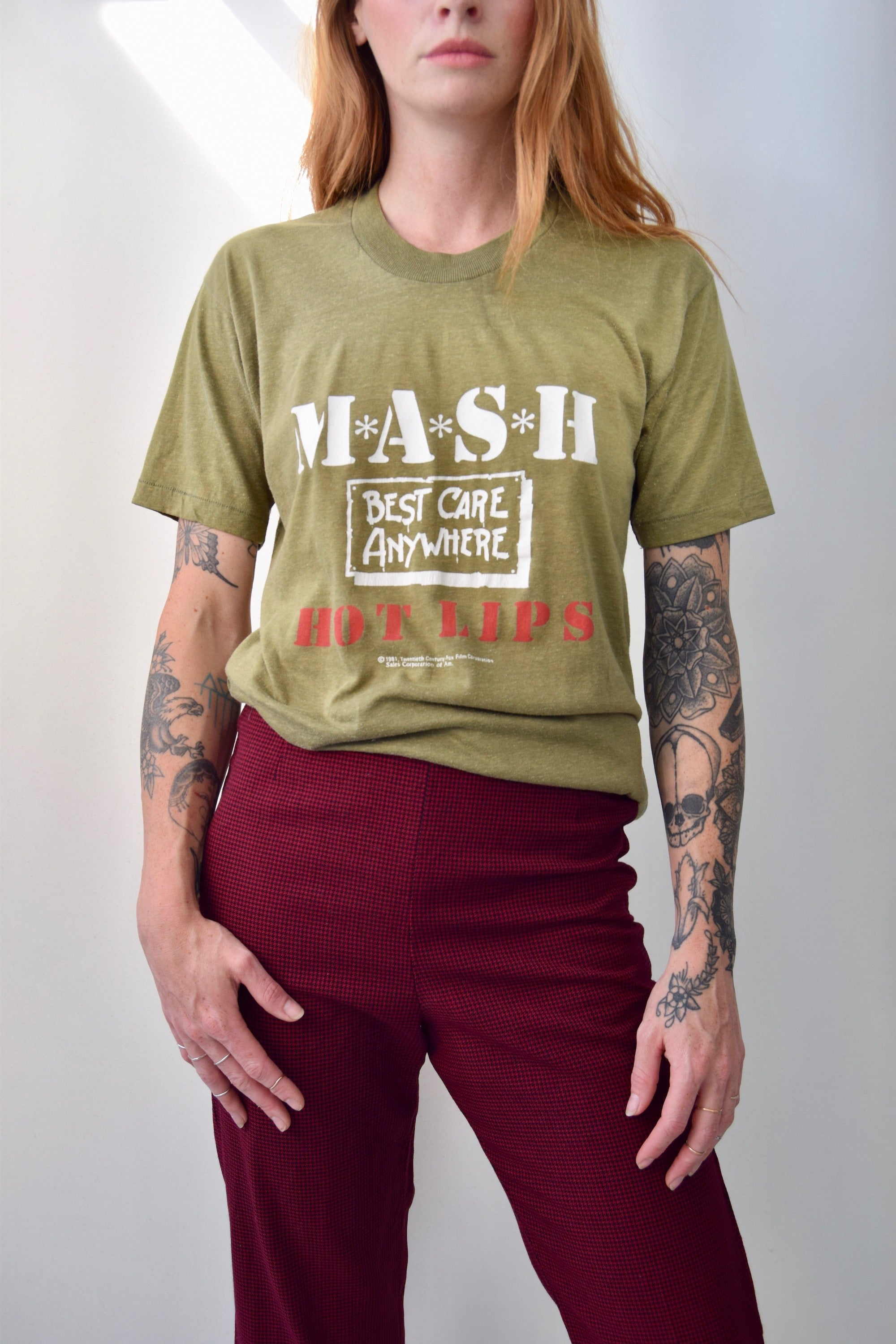 1981 MASH Best Care Anywhere Hot Lips T-Shirt