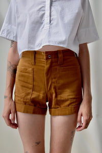 "Vintage ""Top Gun"" Clay Cotton Shorts"
