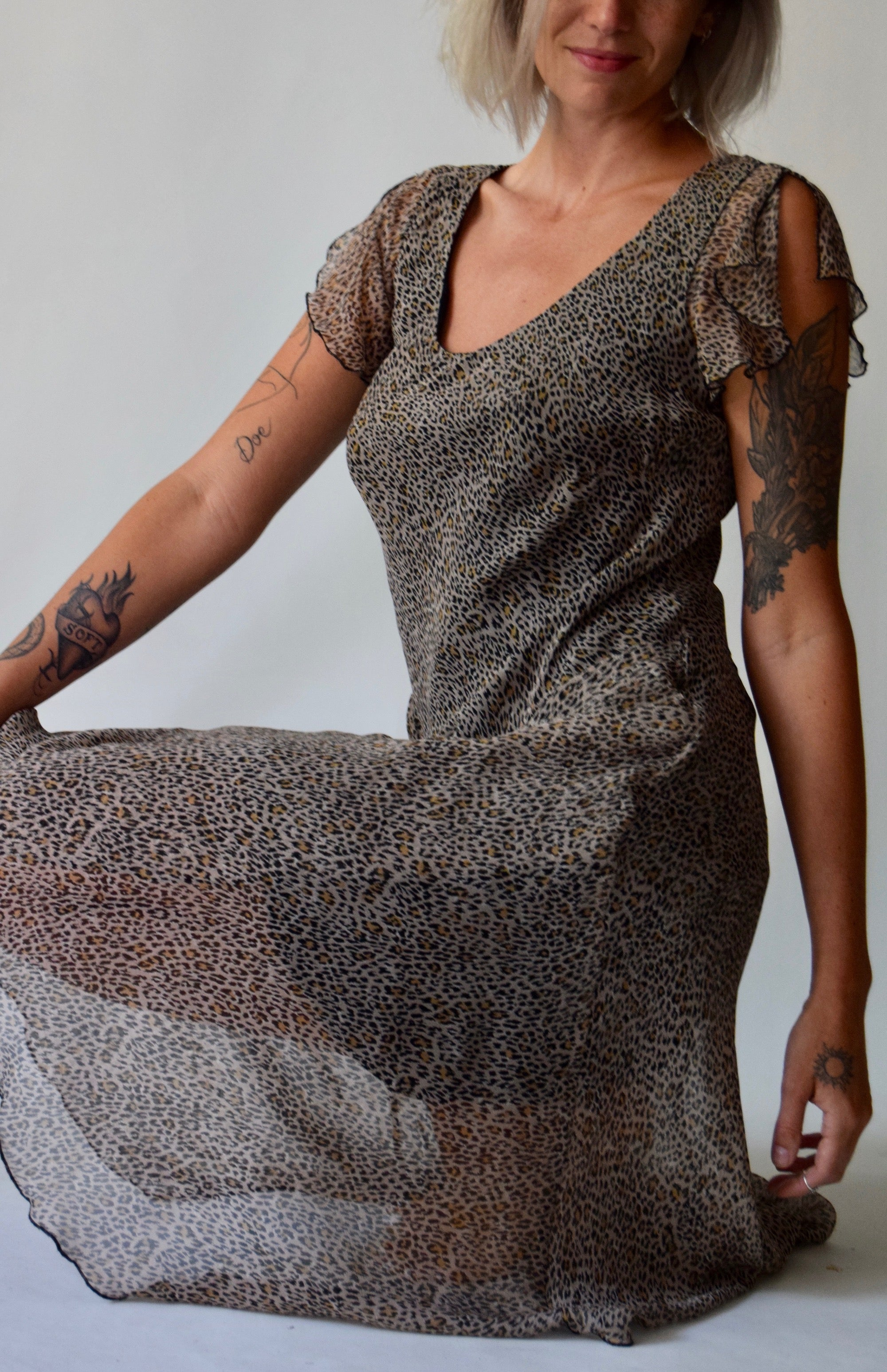 Part One : Aughts Leopard Print Dress FREE SHIPPING