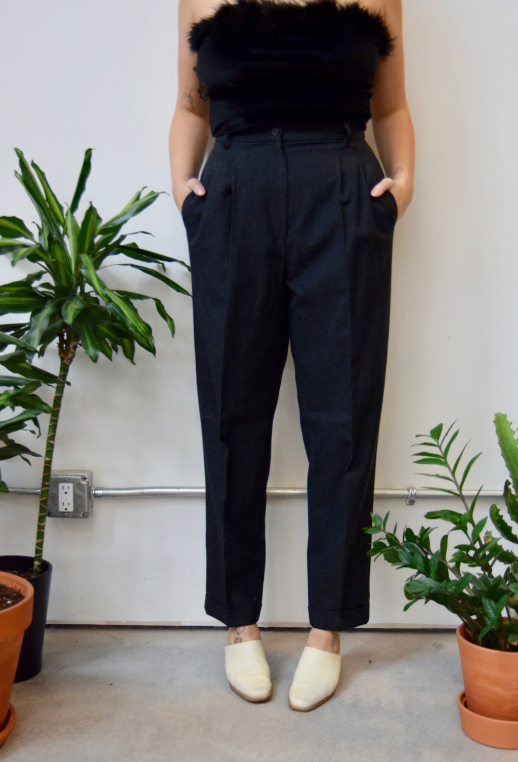 Shadow Grey Wool Trousers
