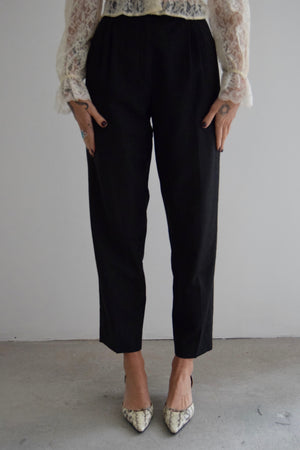 Zanella High Rise Charcoal Wool Trousers