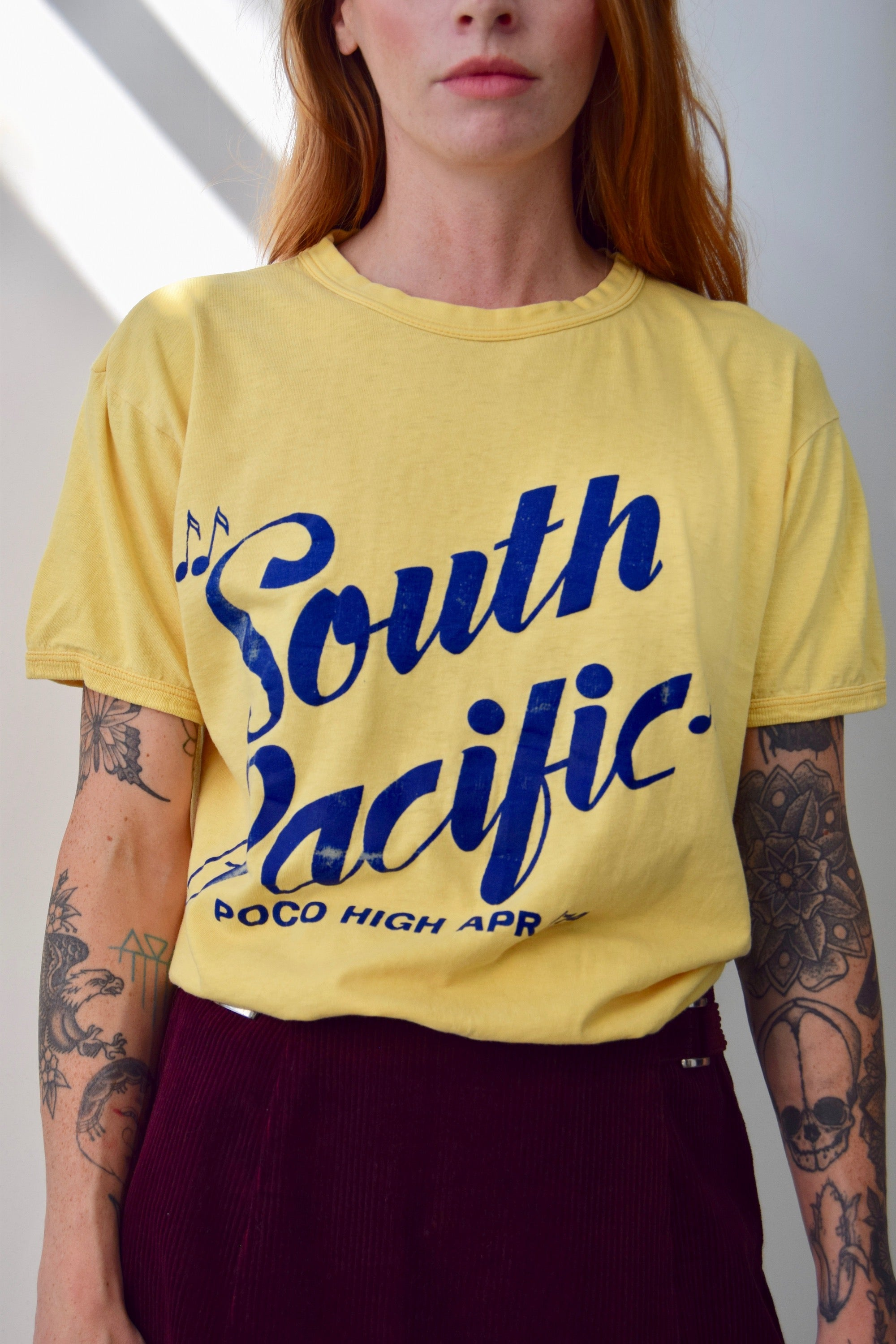 "1974 High School Production of ""South Pacific"" Souvenir Tee"