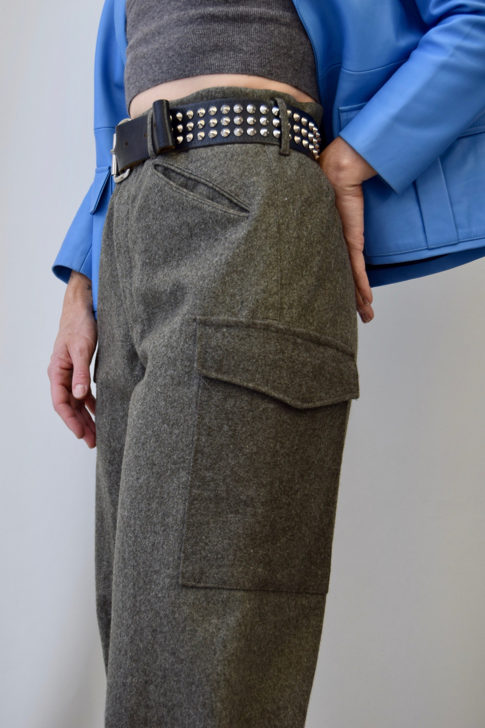 Slate Wool Army Pants