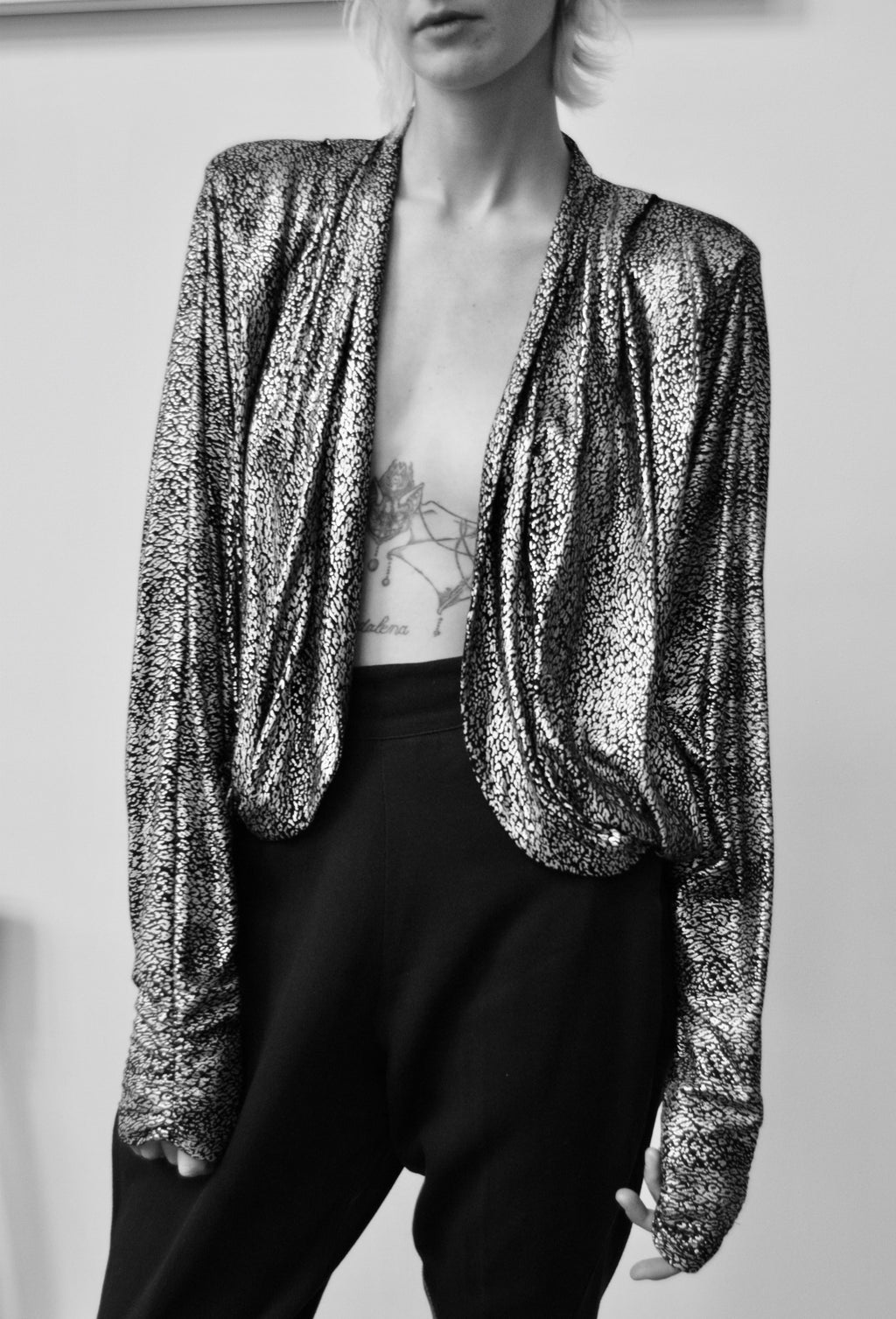 Eighties Metallic Silk Dolman Bolero