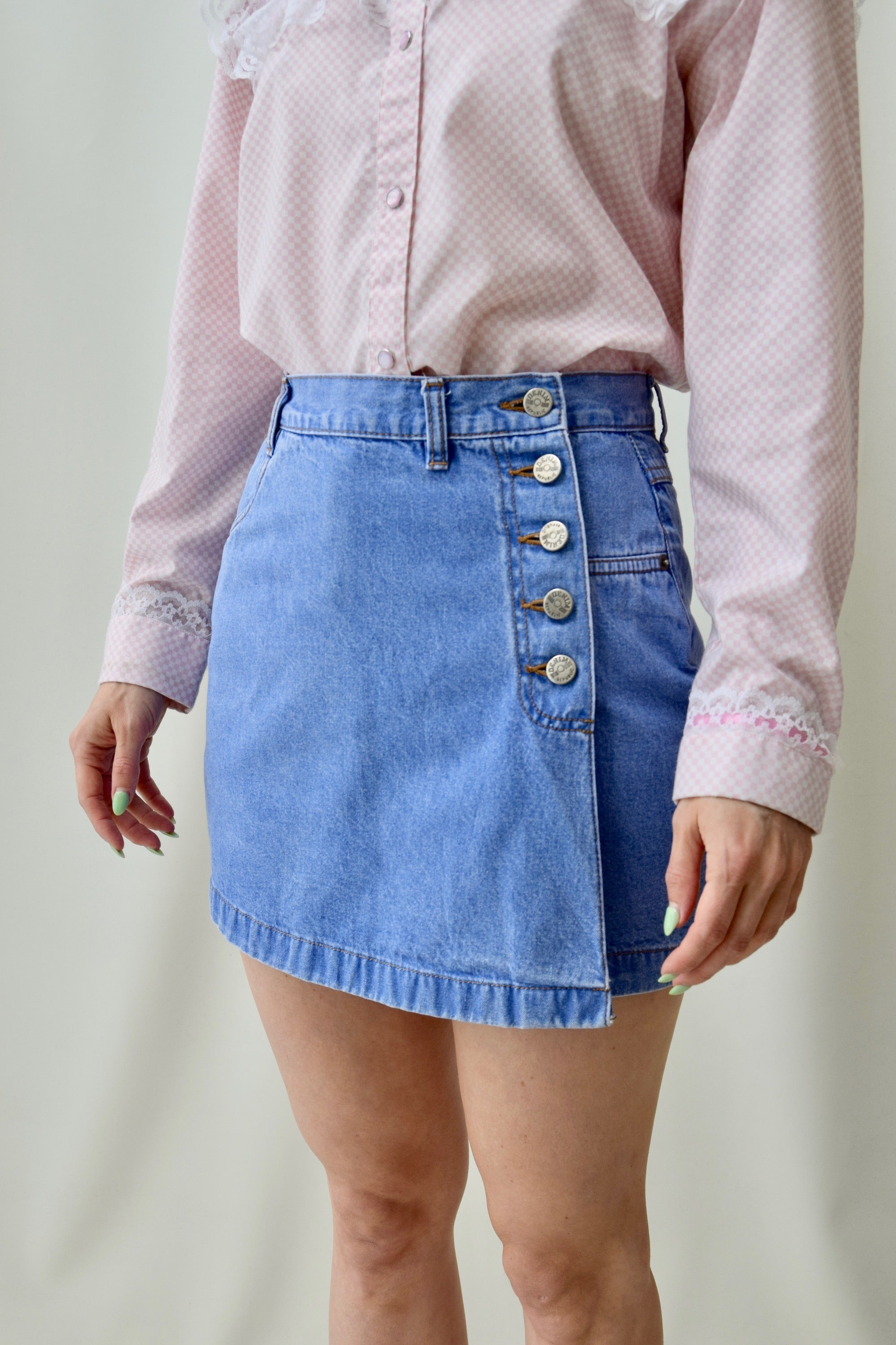 "Blue ""Denim Republic"" Skort"