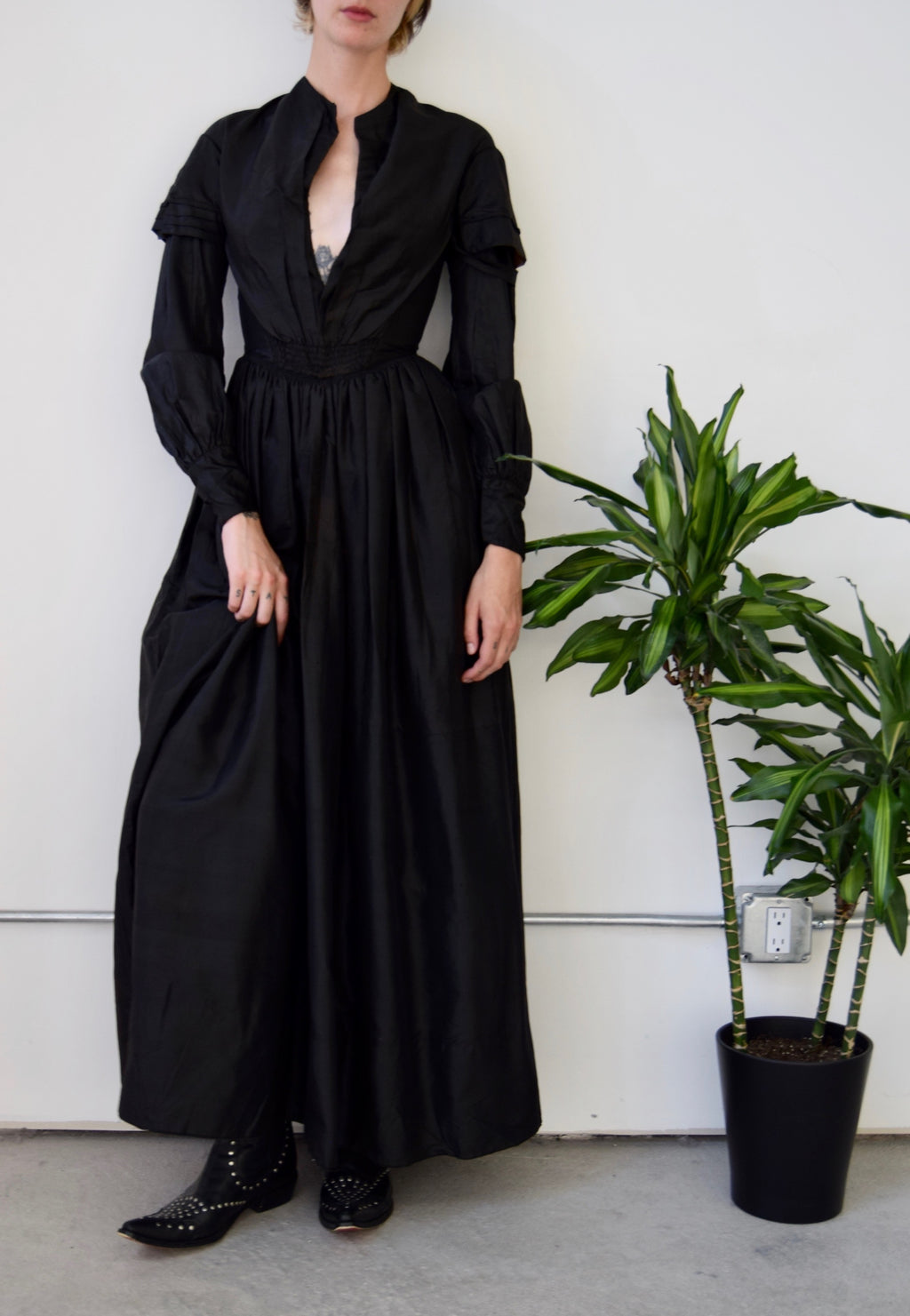 1860's Antique Mourning Dress