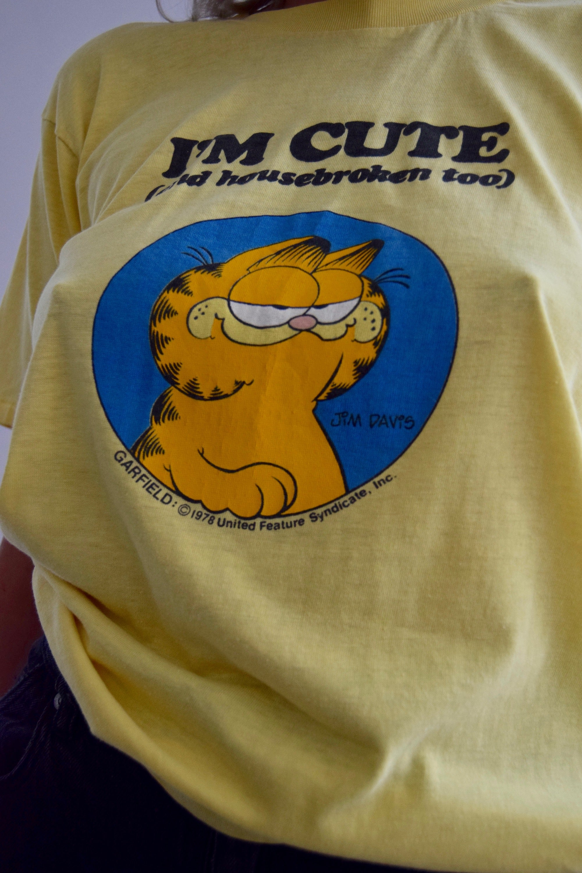Vintage Garfield Paper Thin T Shirt