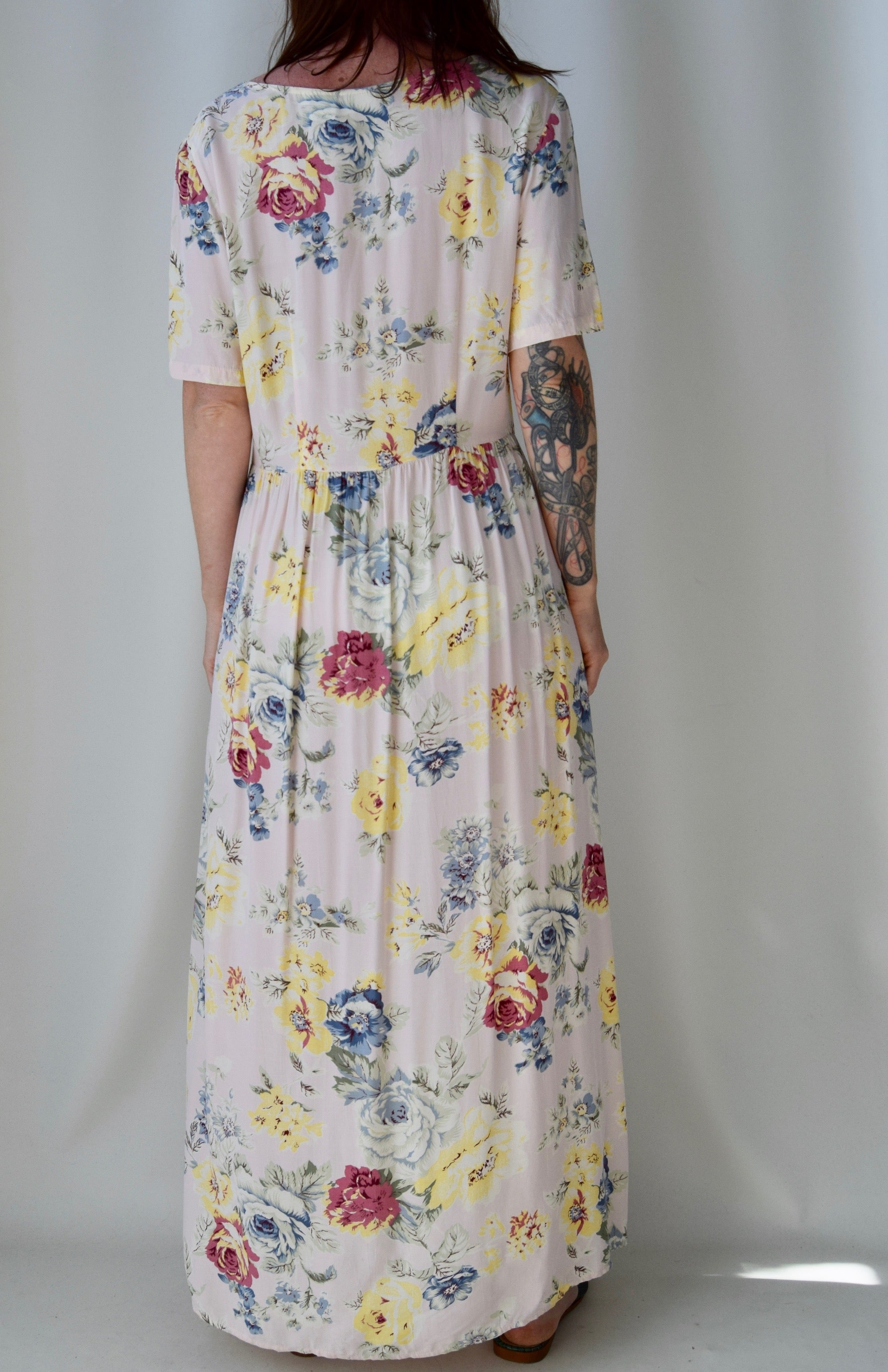 Softest Pink Country Garden Dress