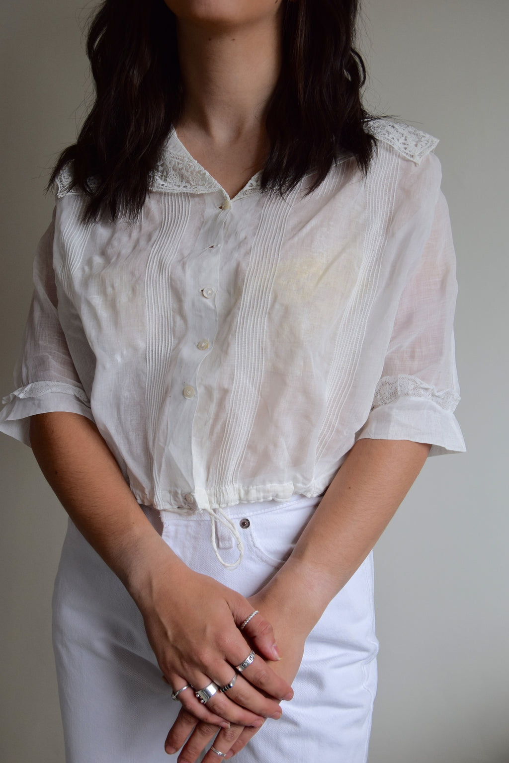 Antique Victorian Gauze Cotton Blouse