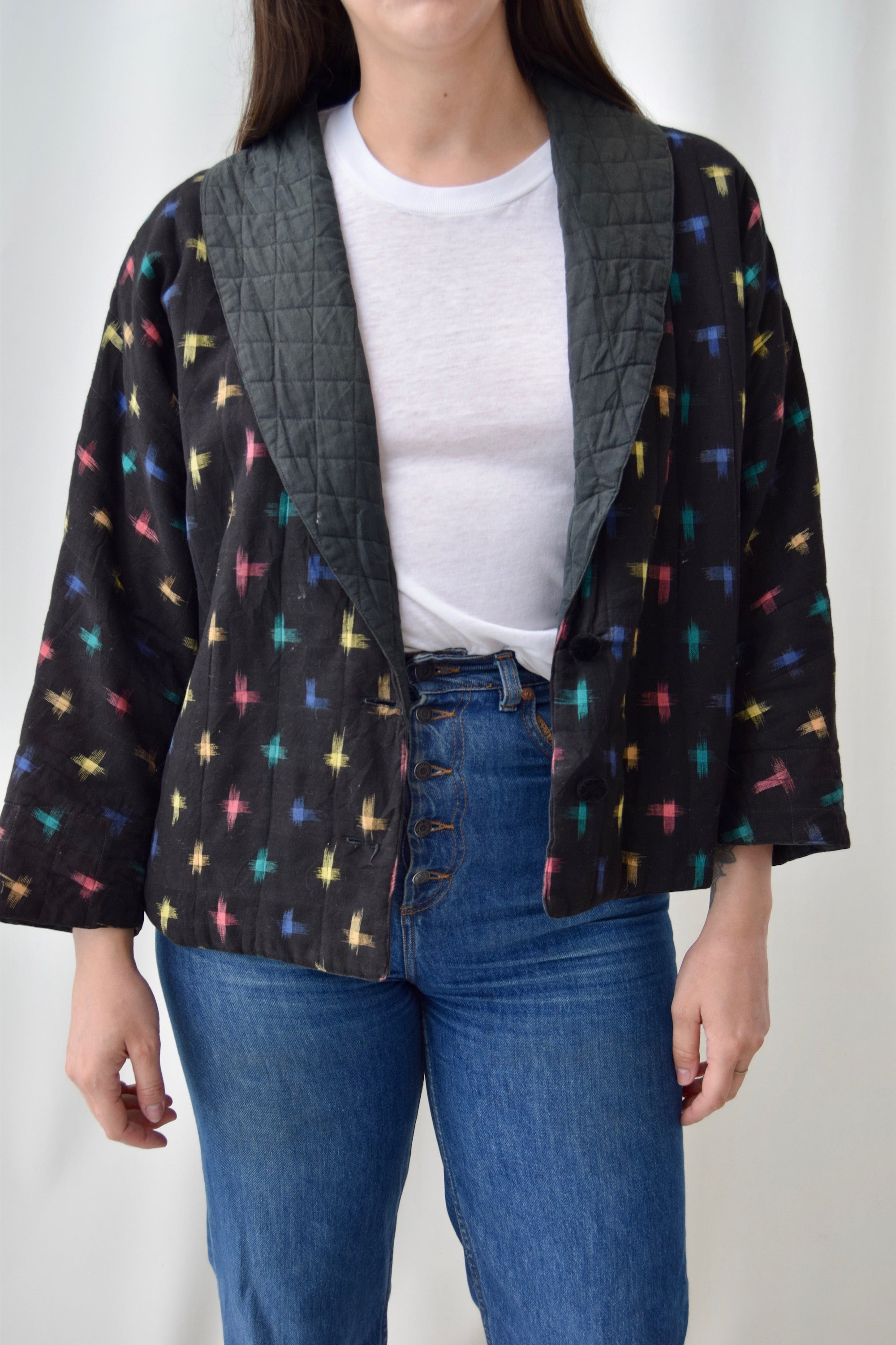Indian Cotton Quilted Bomber Jacket