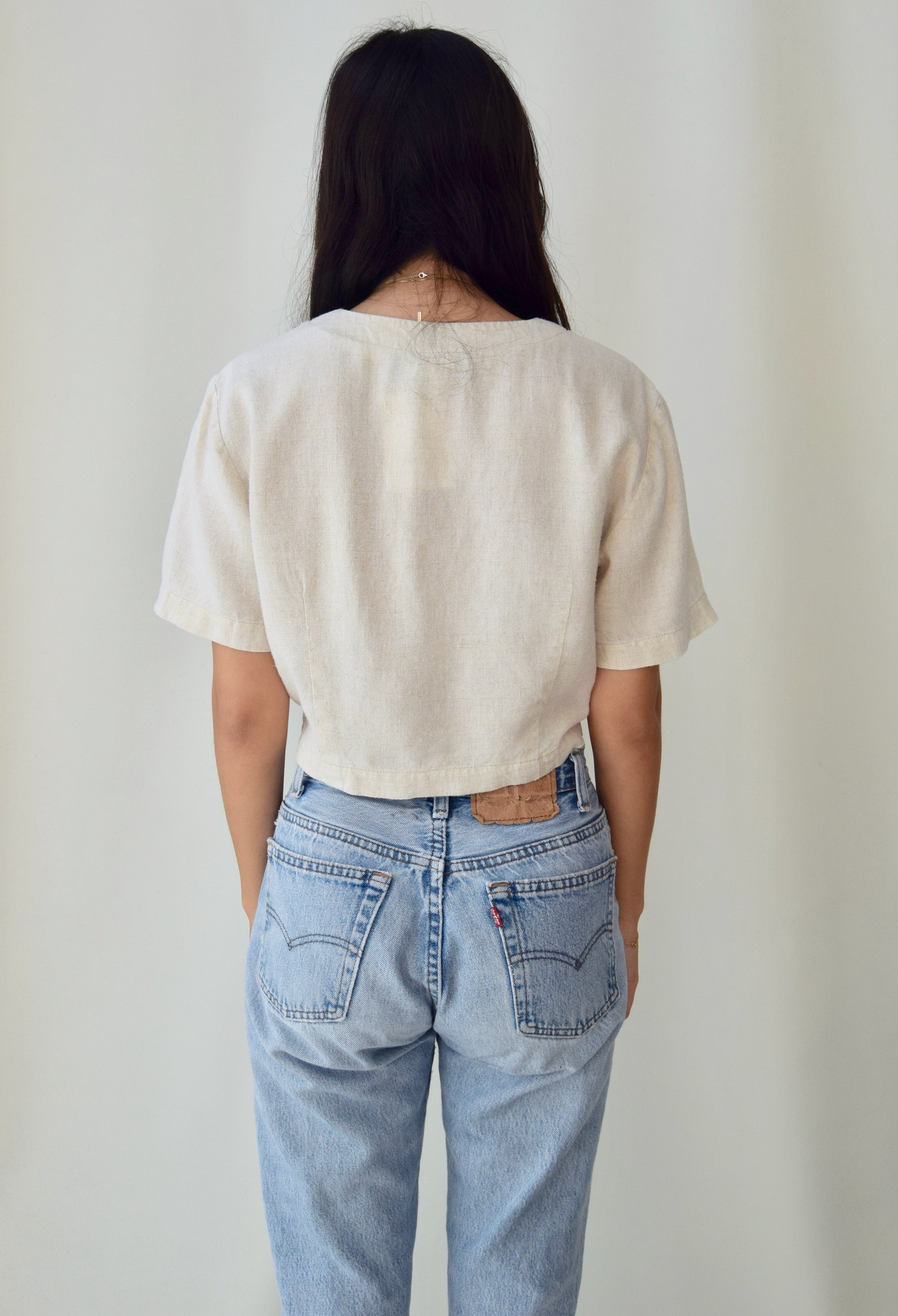 Softest Linen Blend Crop Top