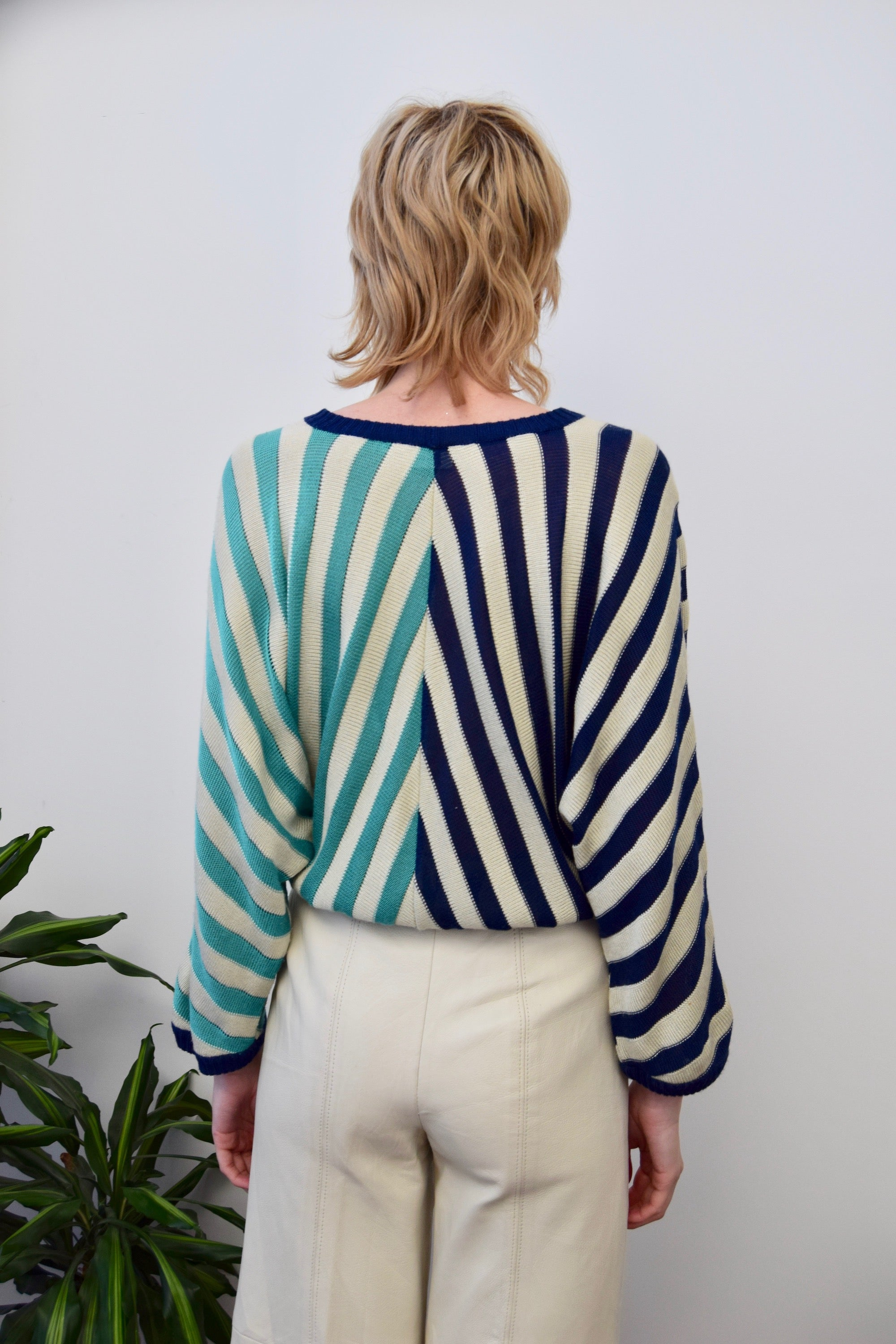 Seventies Striped Knit Top