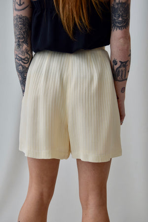 Buttercream Striped Shorts