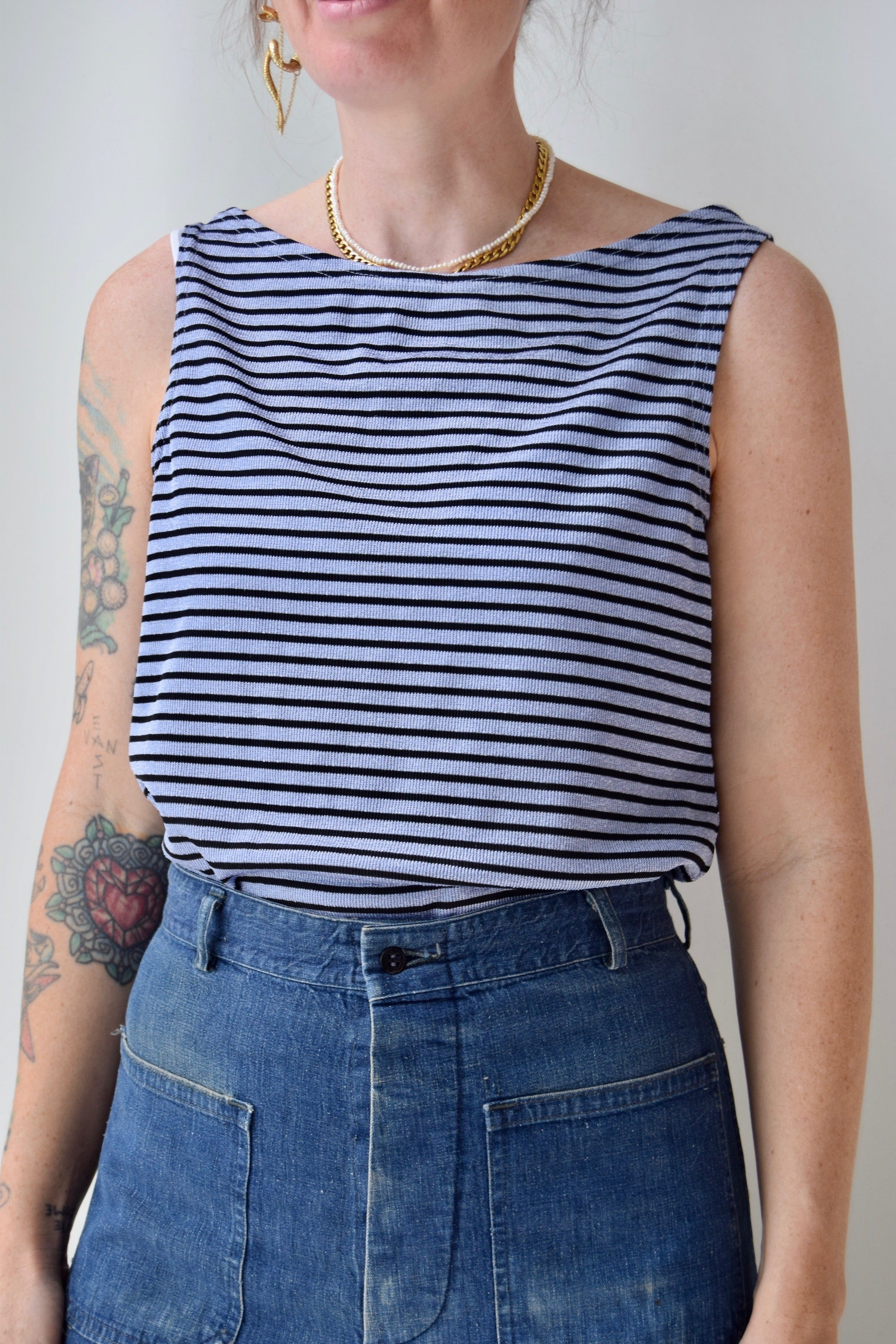 Periwinkle Striped Tank Top