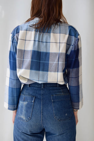 Multi Blue Plaid Tunic