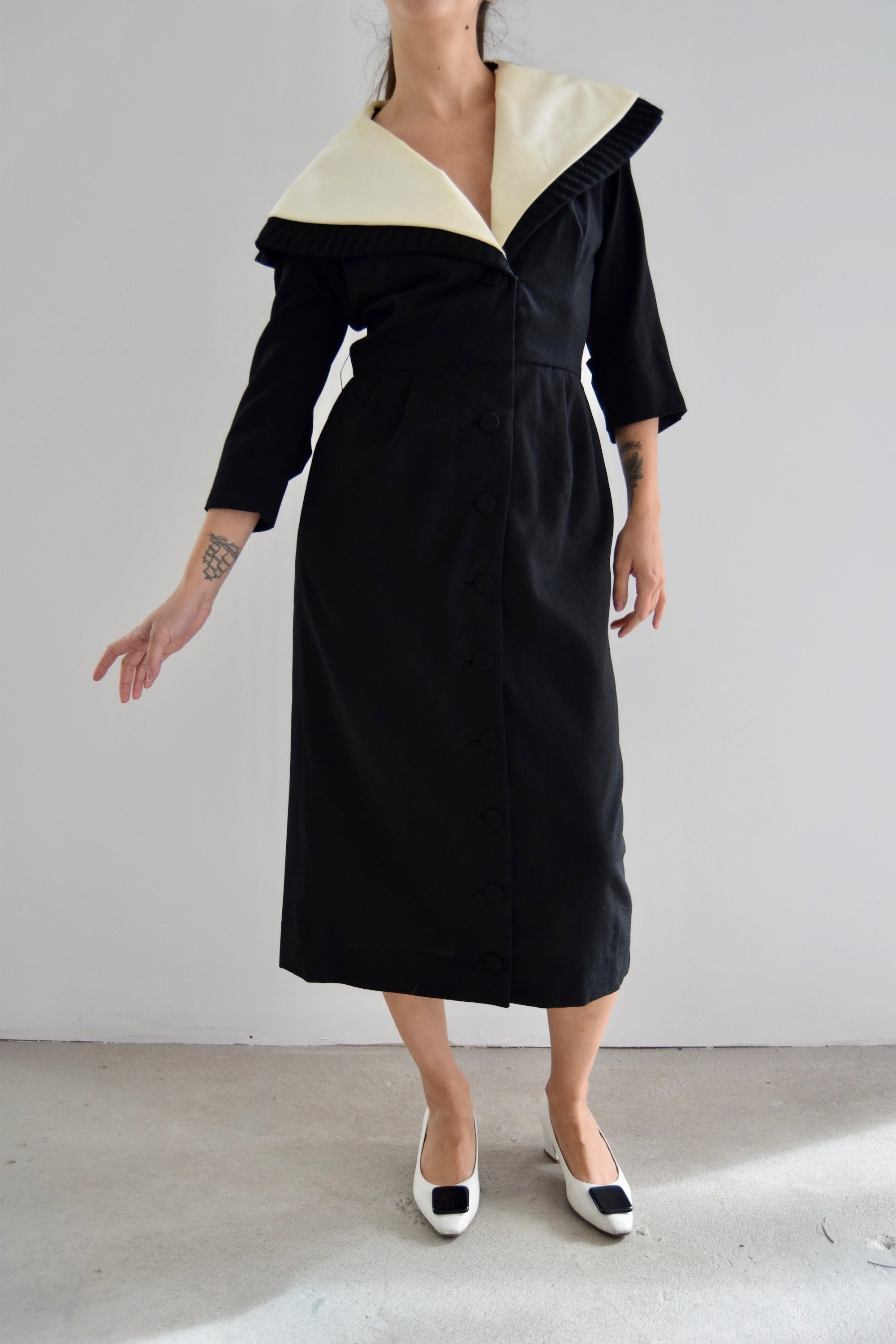Vintage 50's Lilli Ann Cape Collar Dress