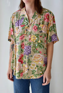 Giant Floral Print Top