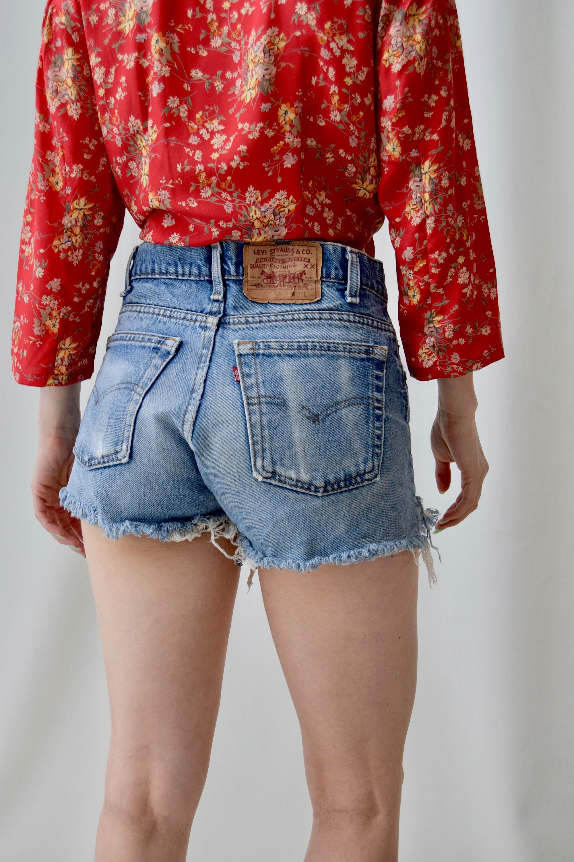 Blue Jean Levis Cut Off Shorts