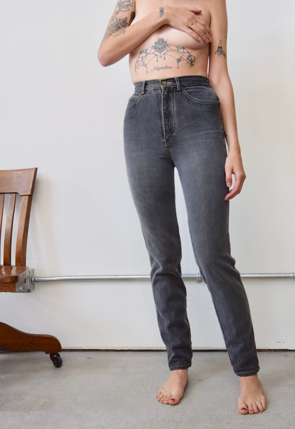 80's 'Derrieres' Grey Jeans