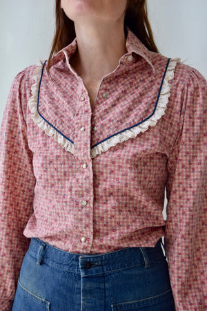Rose Plaid Western