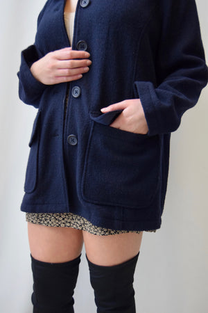Fall Wool Sweater Coat