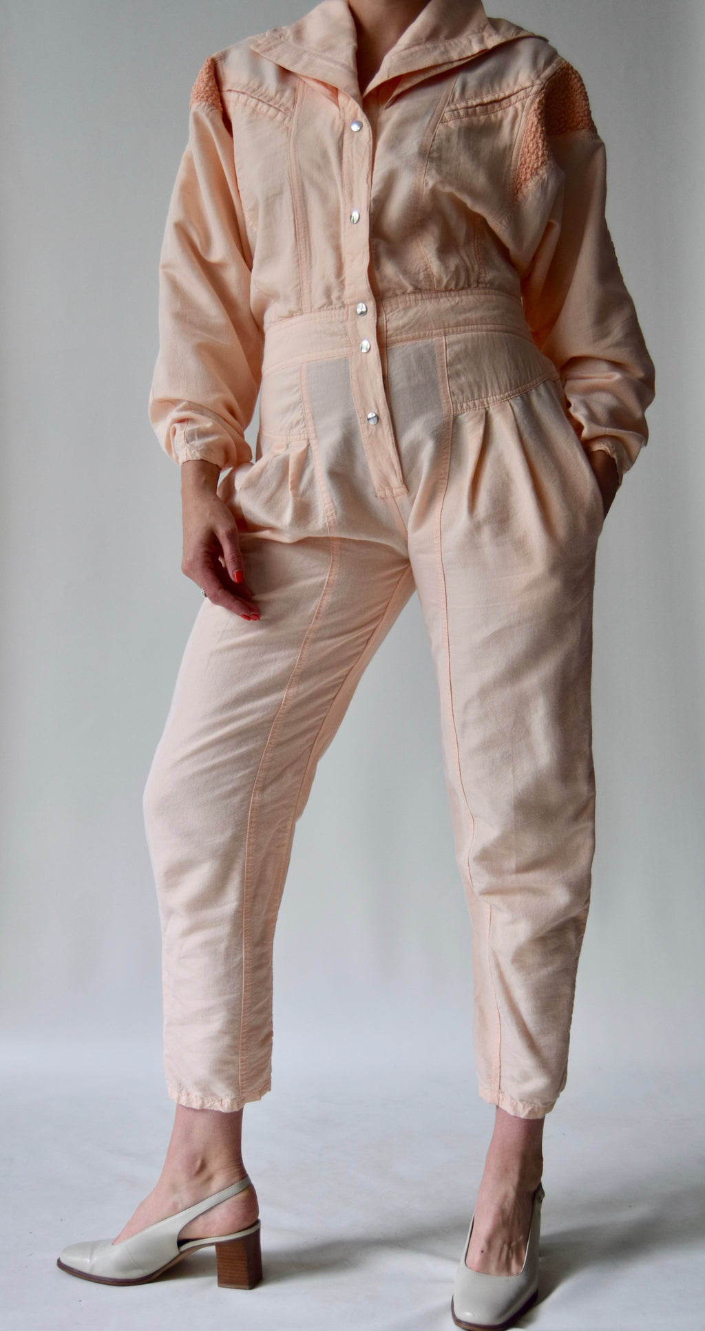 Pale Peach Jumpsuit