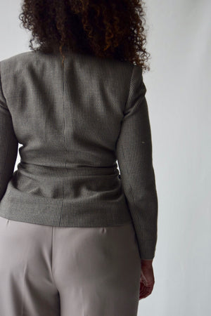 Giorgio Armani Wool Cross Breast Blazer