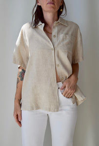 Wheat Linen Blend Top