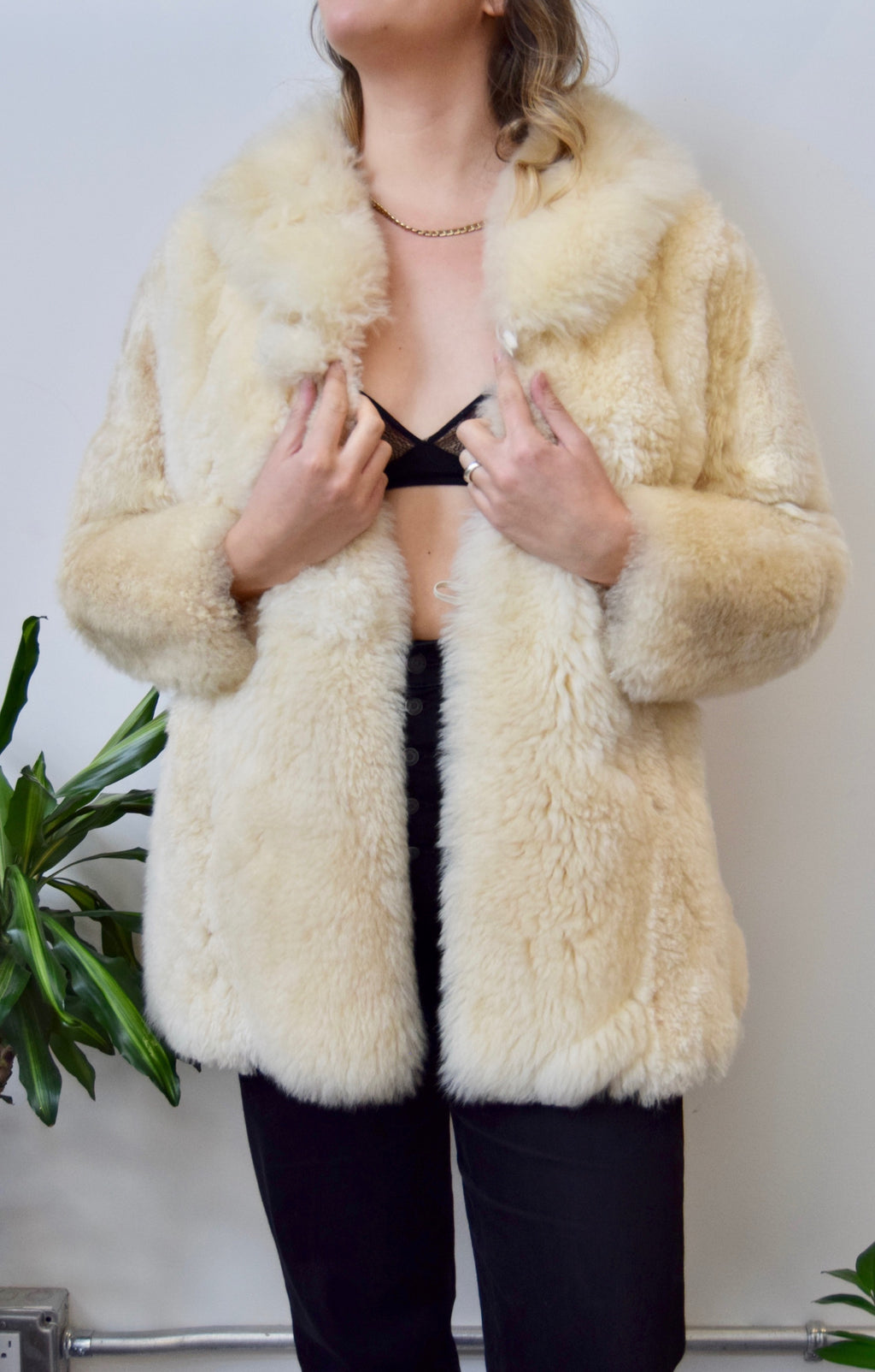 Baby Alpaca Fur Coat