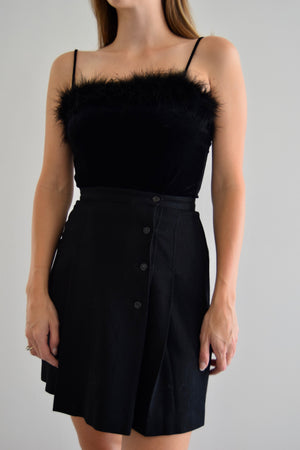 Obsidian Wool Wrap Skirt FREE SHIPPING TO THE U.S.