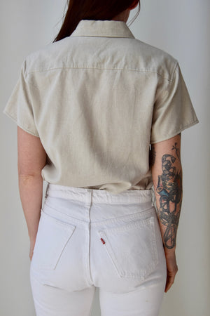 Single Pocket Linen Top