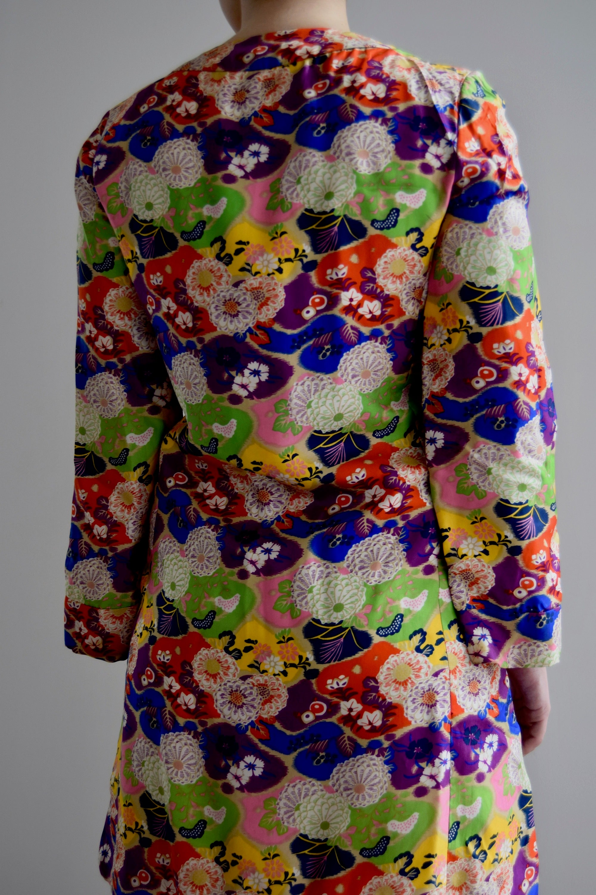 Vintage Silk Kimono Inspired Dress FREE SHIPPING TO THE U.S.