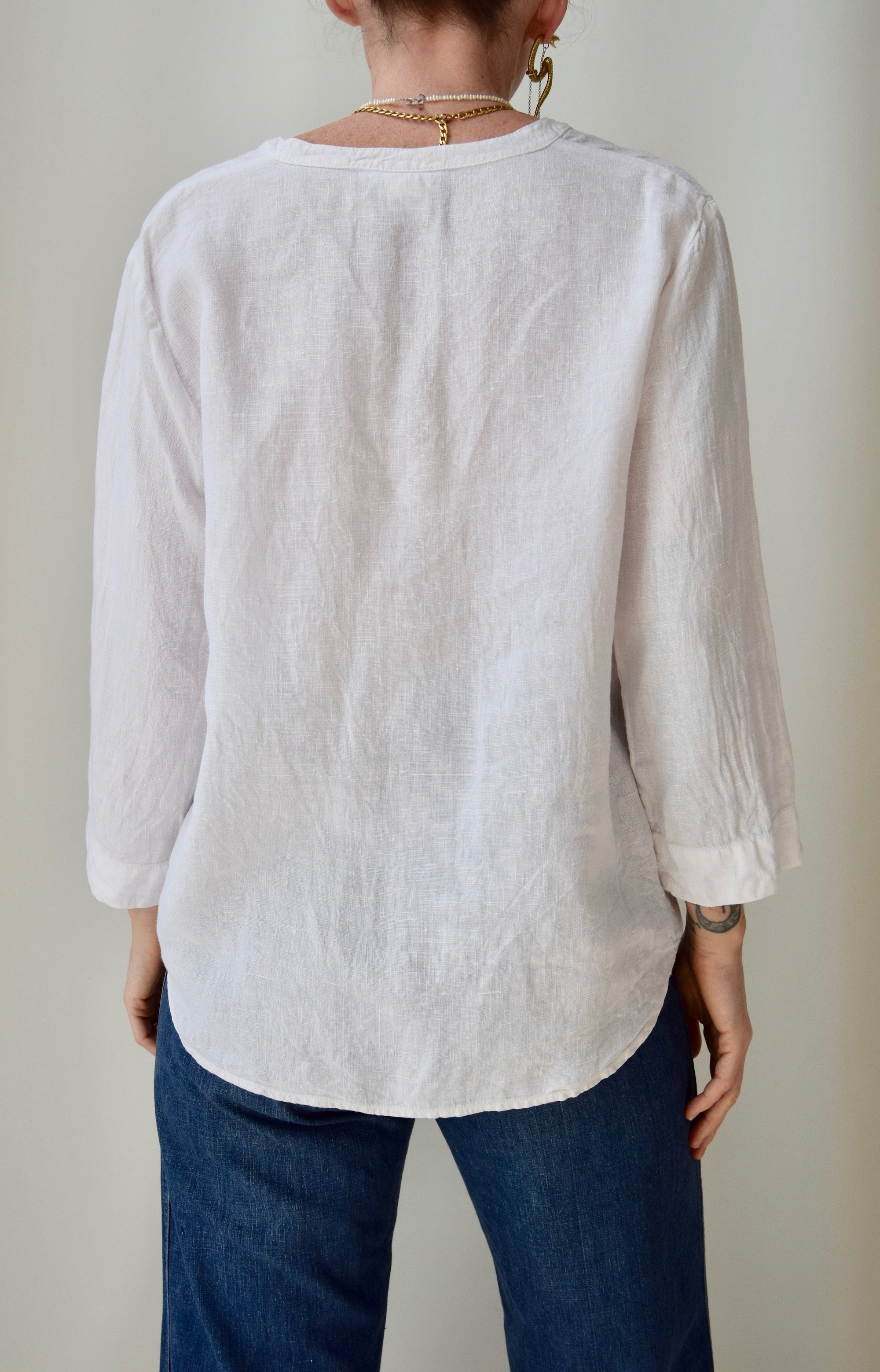 Clean White Linen Top