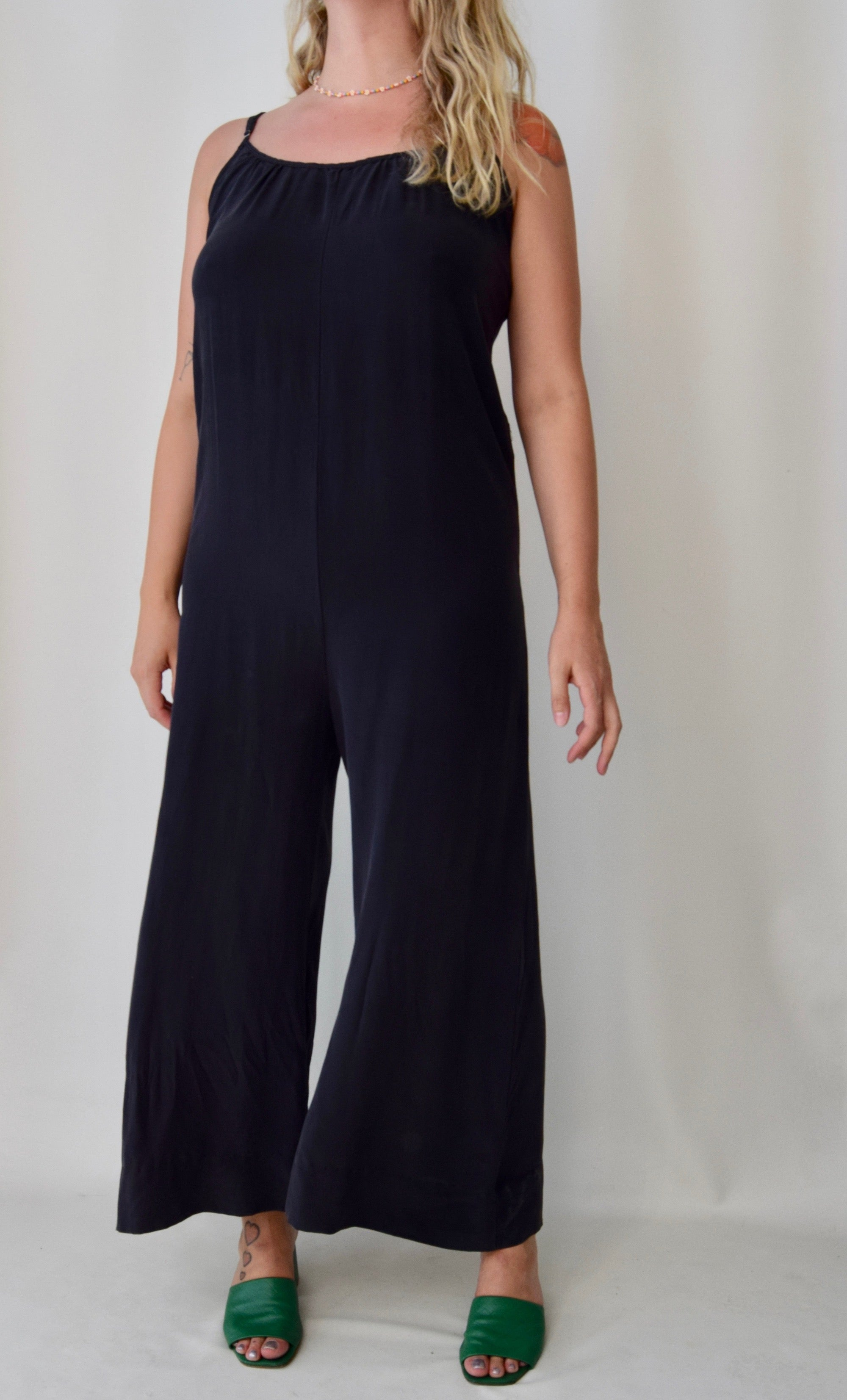 Charcoal Grey Silk Jumpsuit