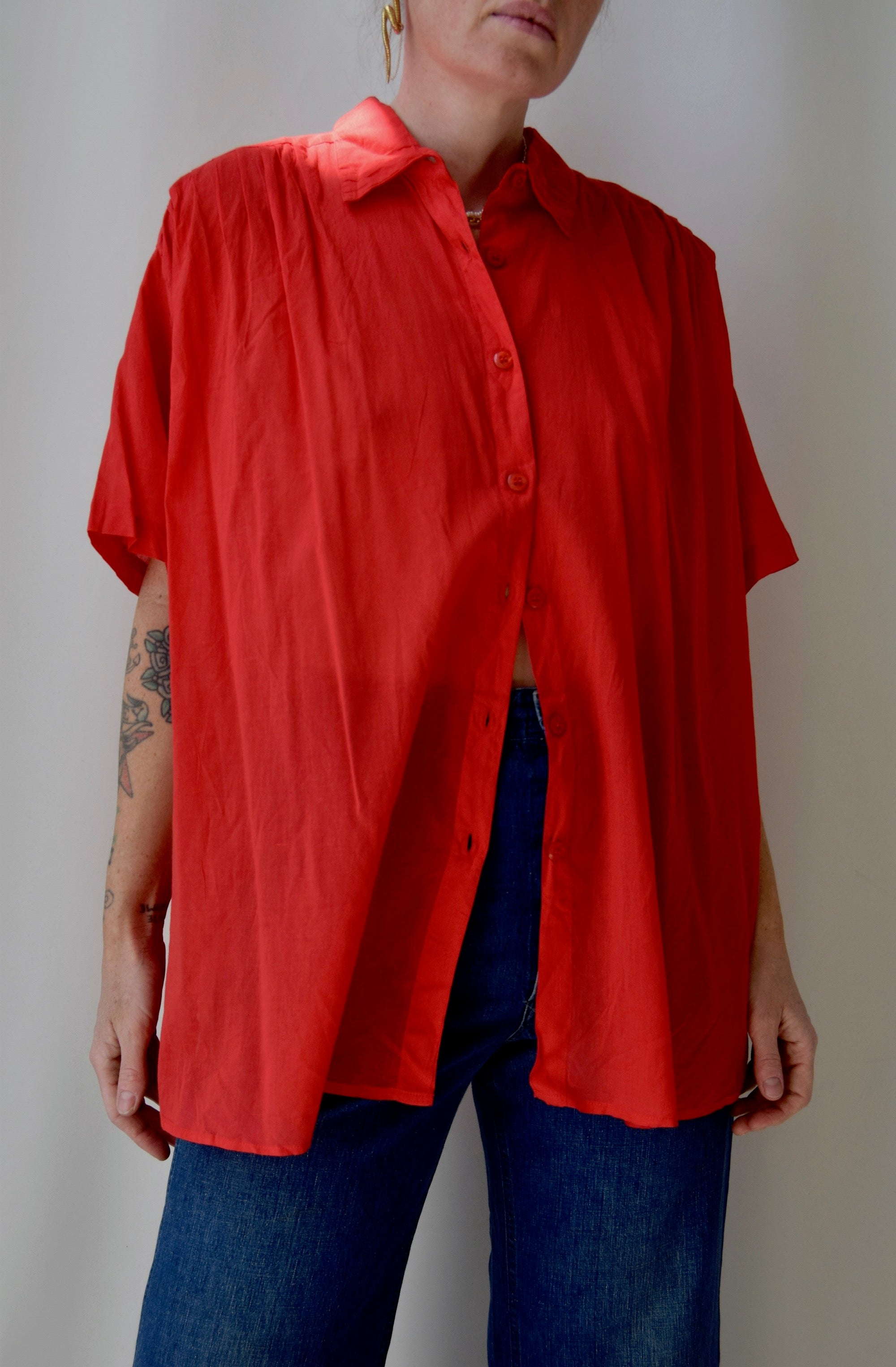 Ruby Indian Cotton Flowy Top