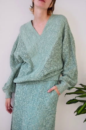 Seventies Seafoam Linen & Cotton Knit Set
