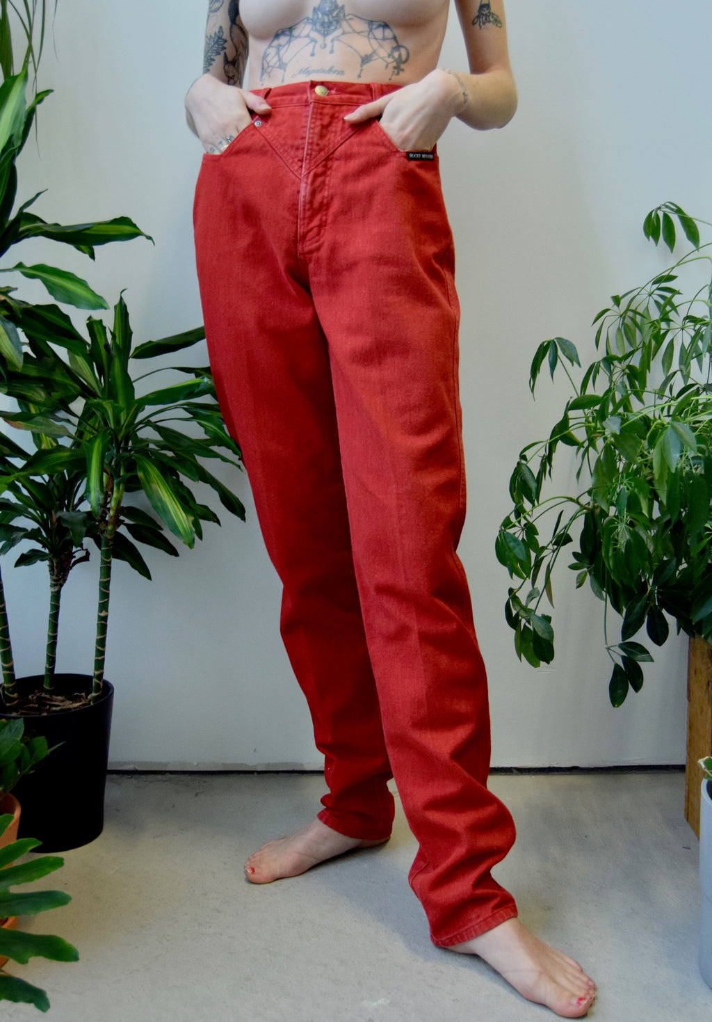 "Cherry Red ""Rocky Mountain"" Jeans"