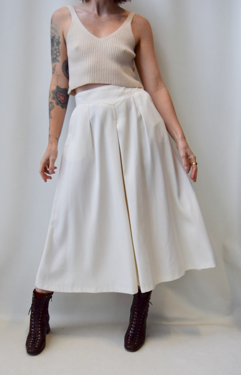 """Seasons"" Ivory Culotte Trousers"