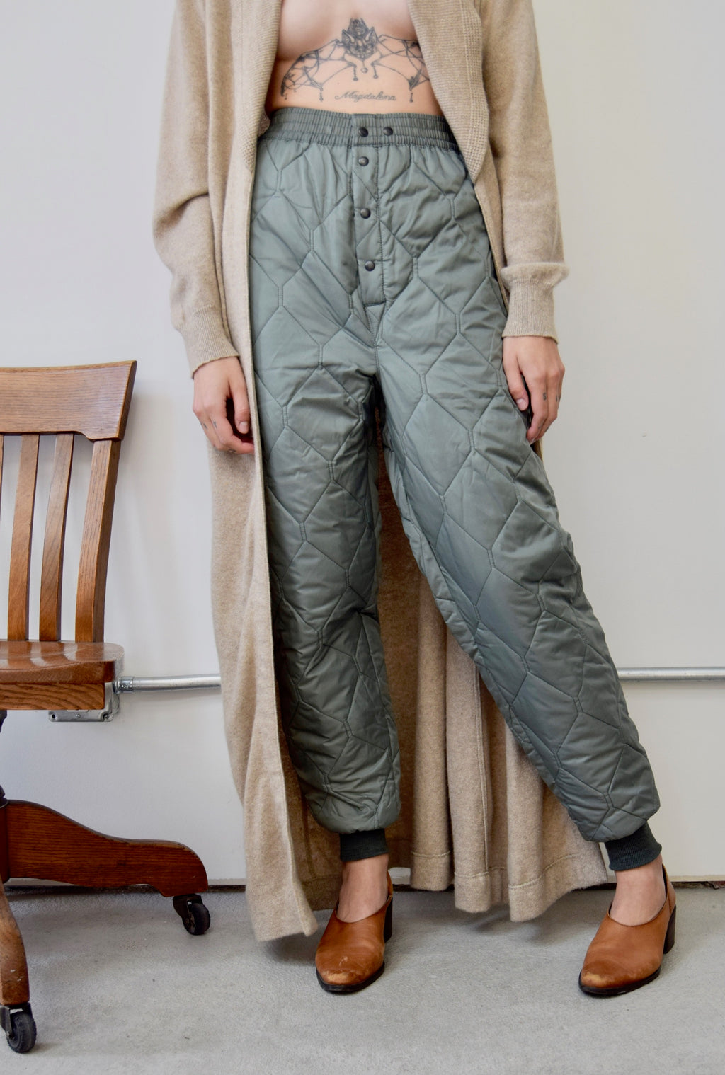Sage Quilted Pants