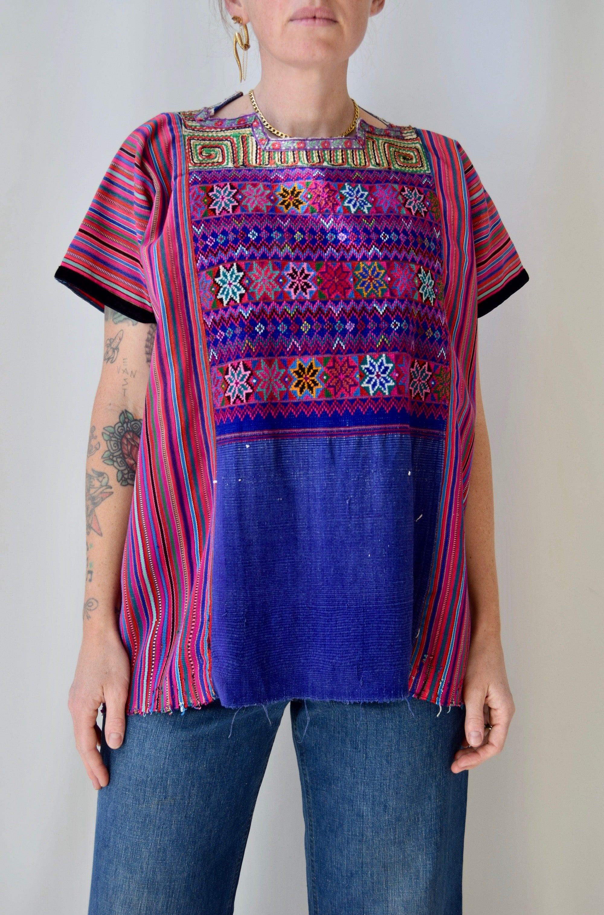 Huipil Pink Striped Tunic