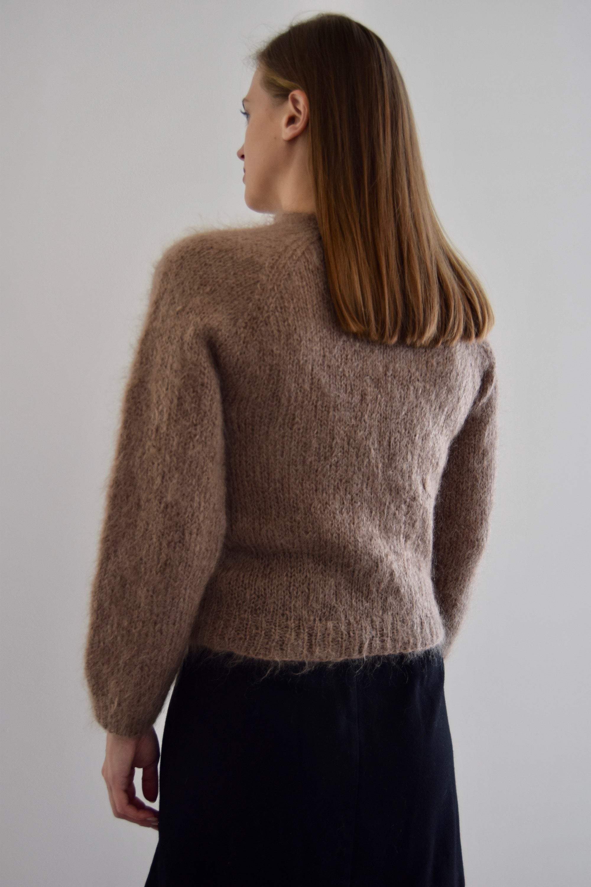 Mousy Brown Mohair Cardigan