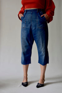 50's Blue Bell Sanforized Cropped High Waist Denim