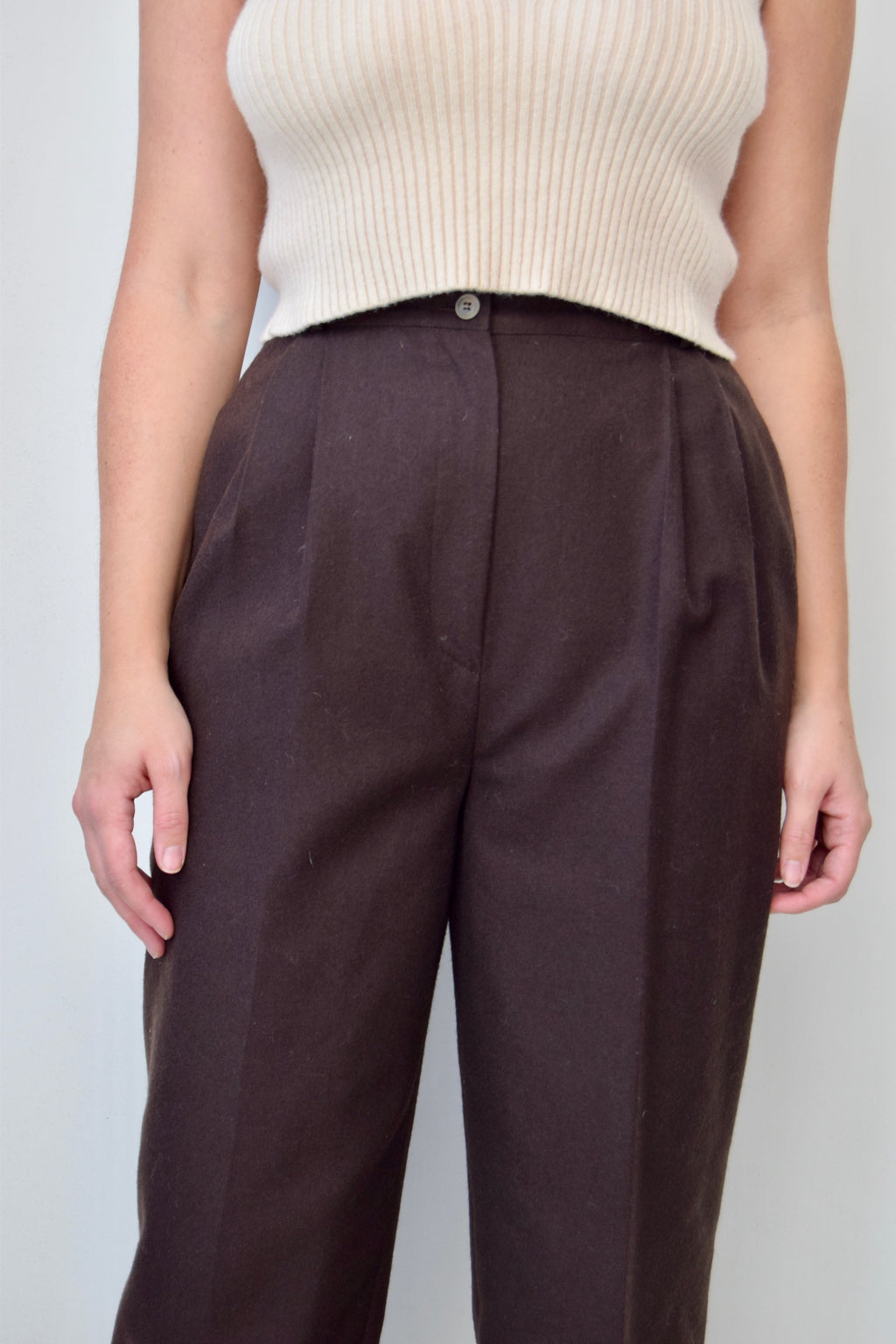 Umber Wool Pants