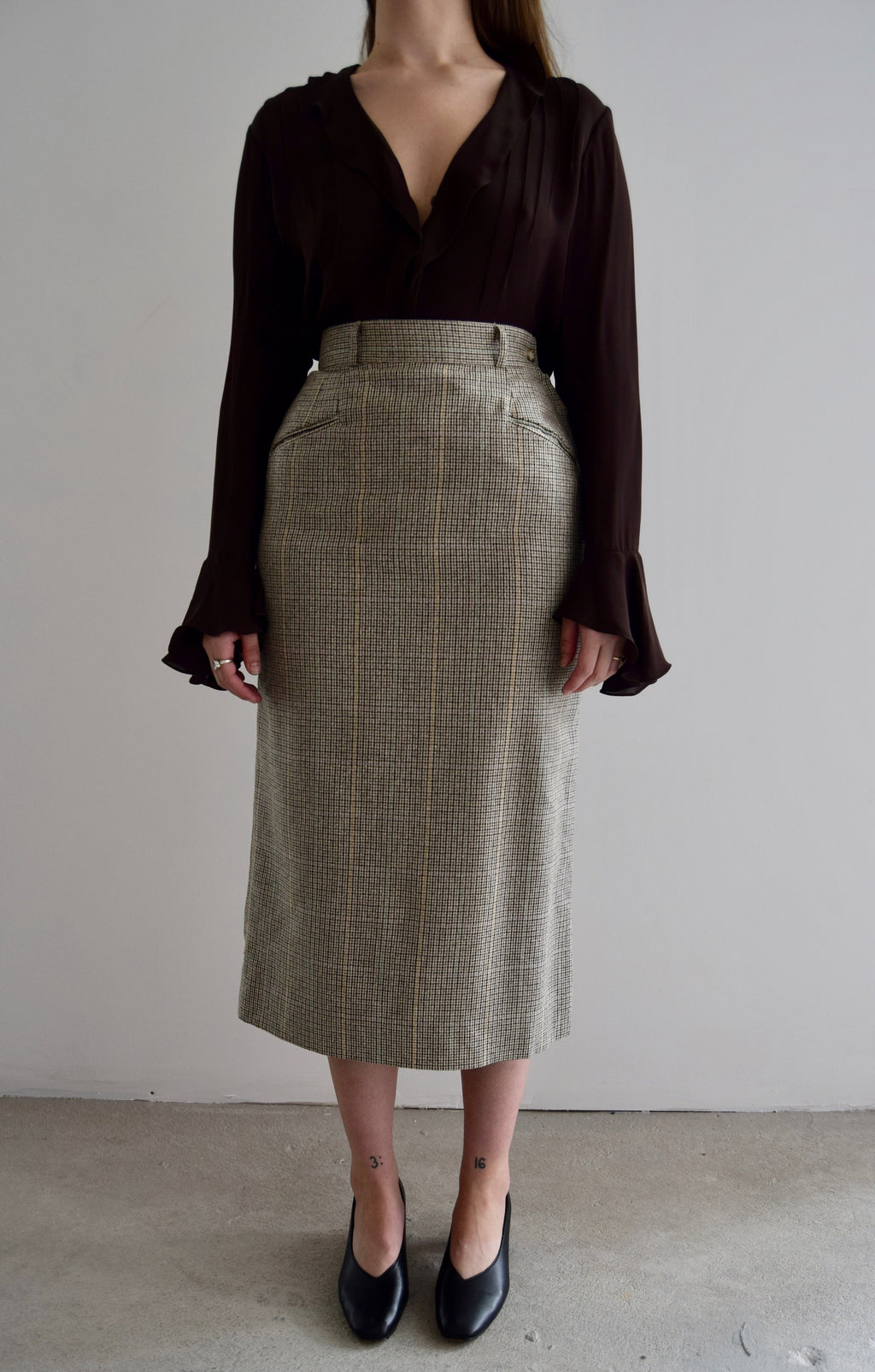 Vintage Harolds Wool & Silk Skirt