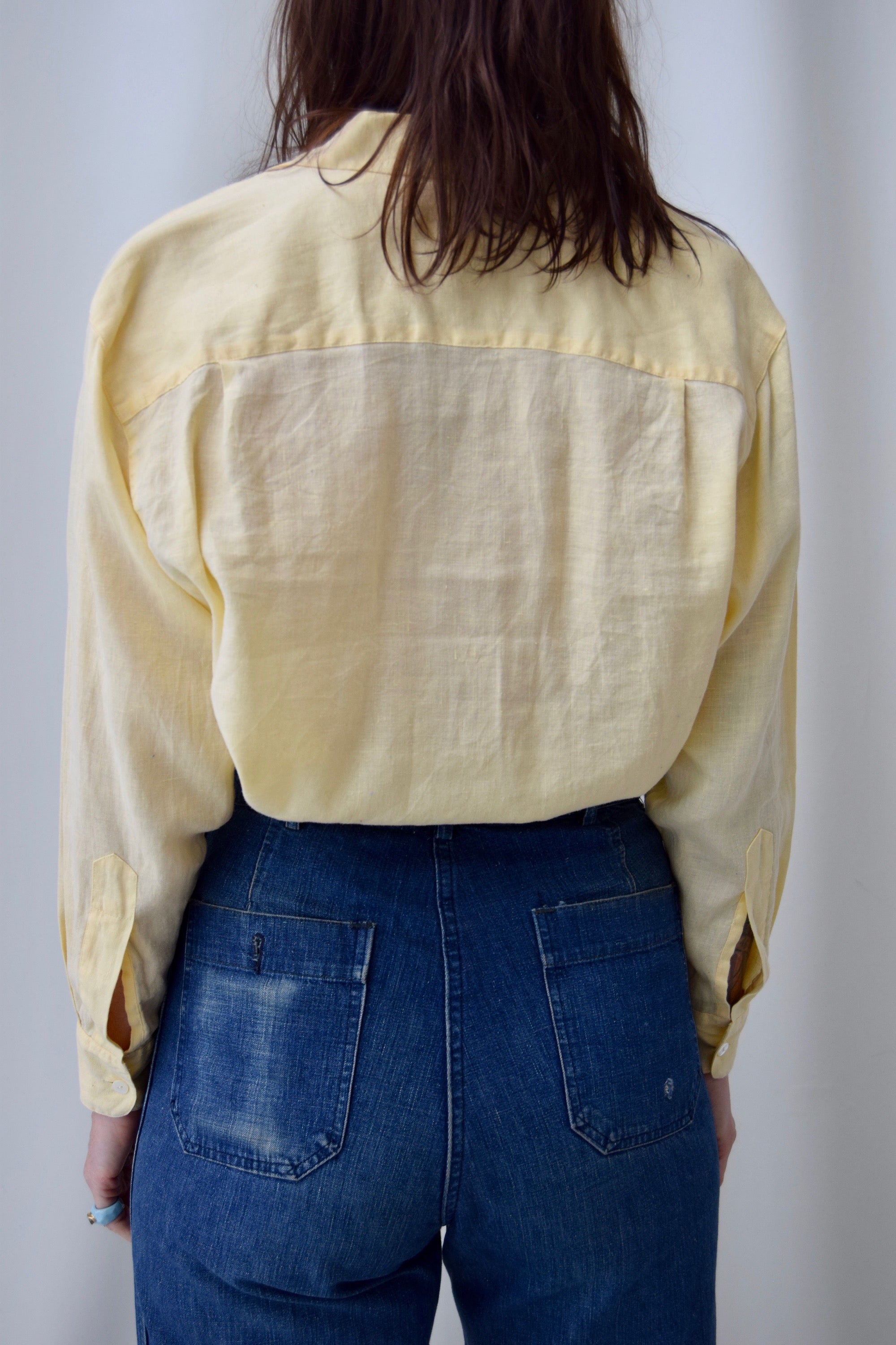 Buttercream Linen Long Sleeve Top