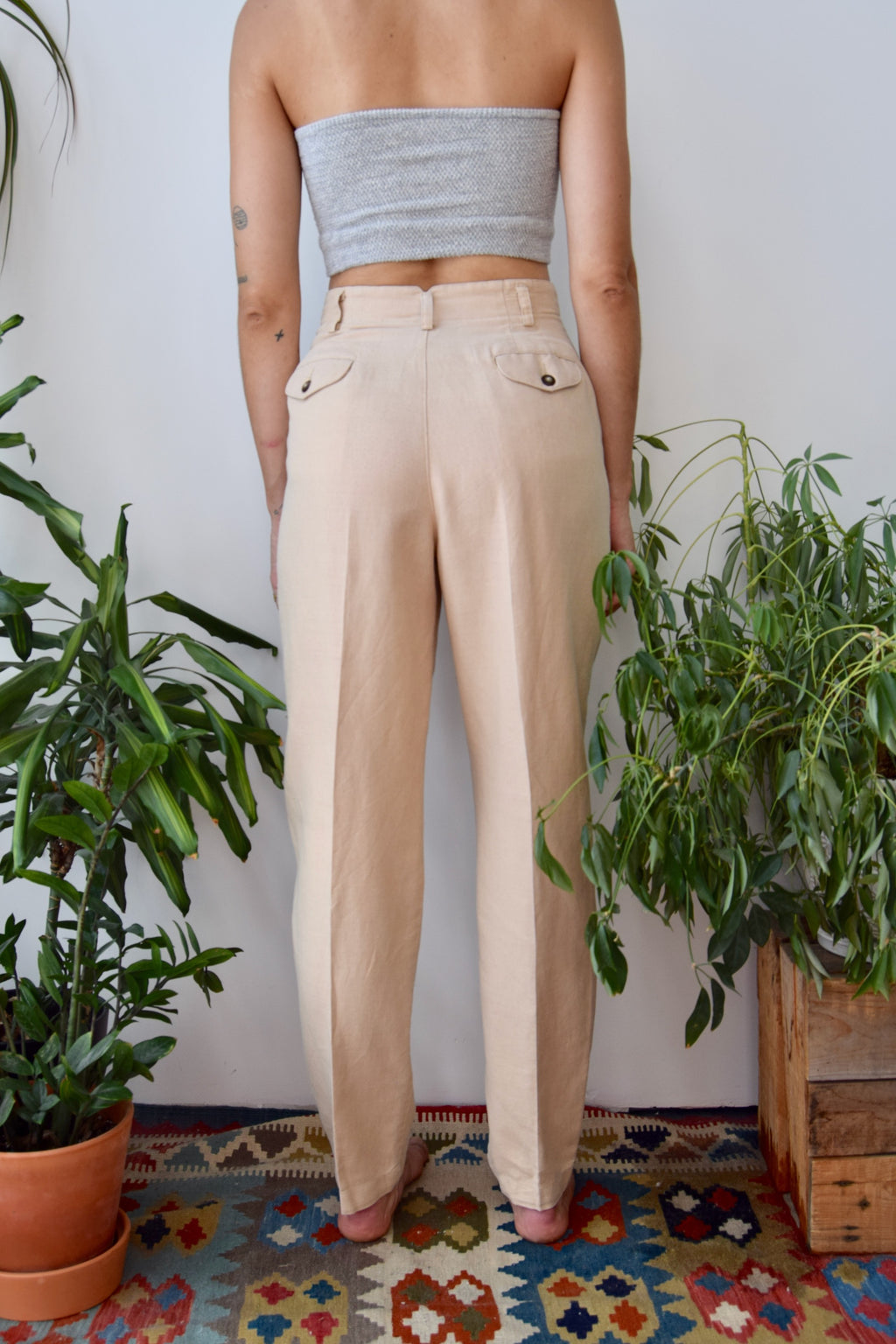 Blue Violet Linen Lounge Pants