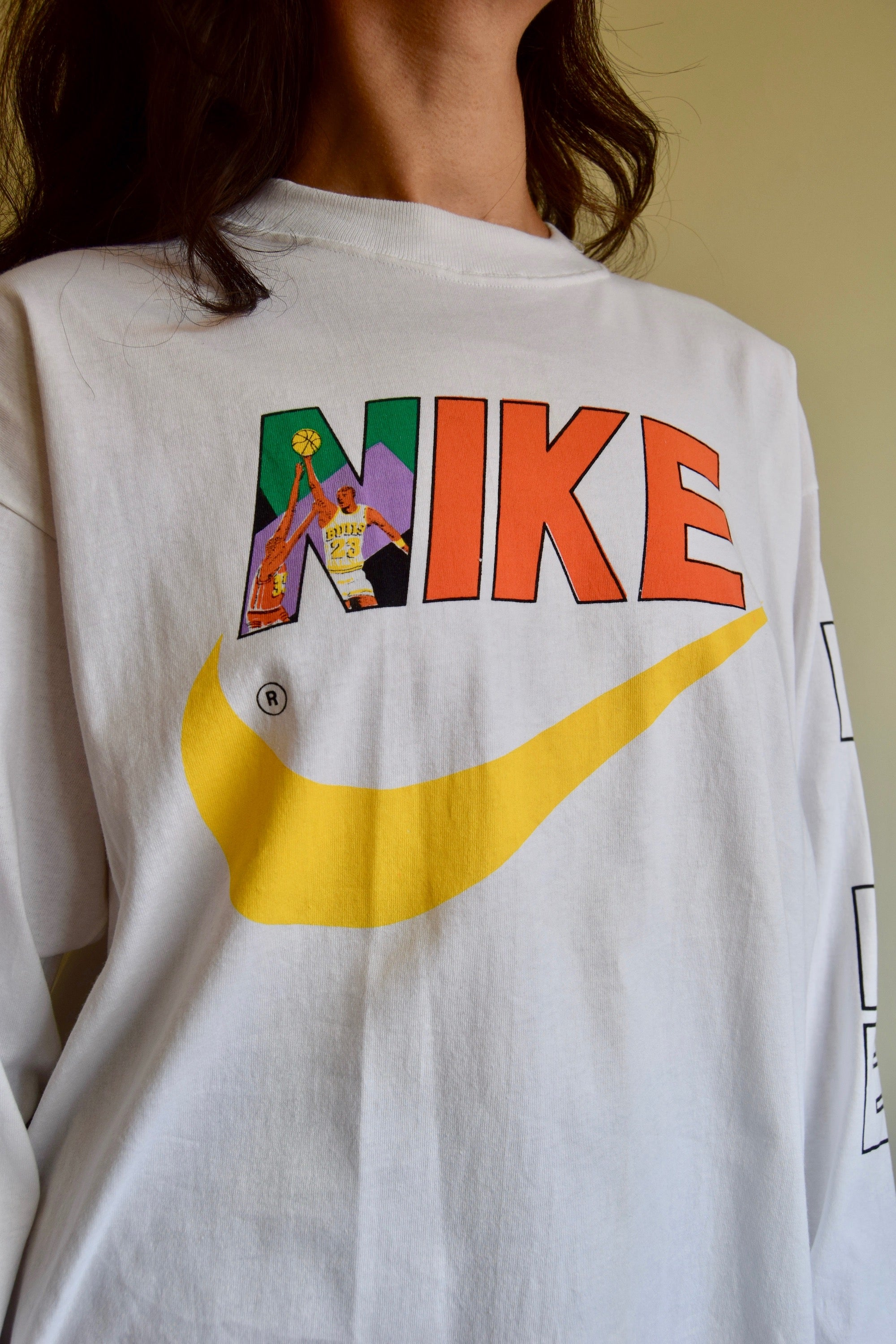 Rare Vintage Nike Michael Jordan Long Sleeve Dead Stock Shirt
