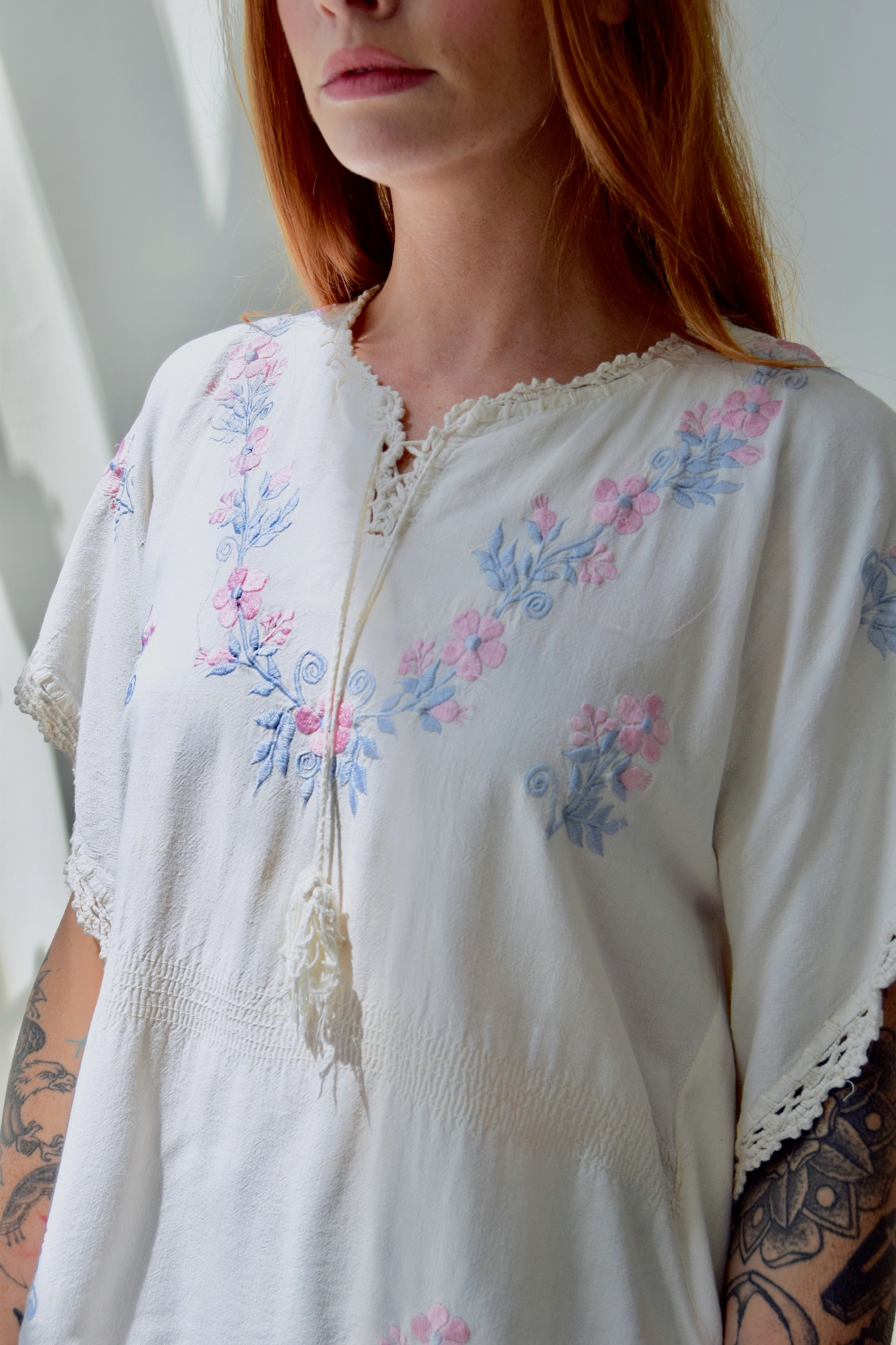 Vintage Cotton Butterfly Top