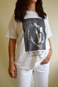 "Vintage ""Not All Men Are Created Equal"" T-Shirt FREE SHIPPING TO THE U.S."